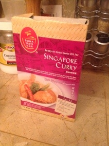 Singapore Curry in a box